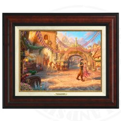 Thomas Kinkade Framed Art on Canvas - Tangled
