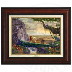 Thomas Kinkade Framed Art on Canvas - The Lion King