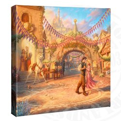 Thomas Kinkade Dancing in the Sunlit Courtyard - Tangled