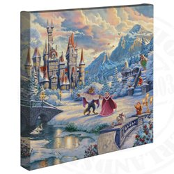 Thomas Kinkade  Winter Enchantment - Beauty and the Beast