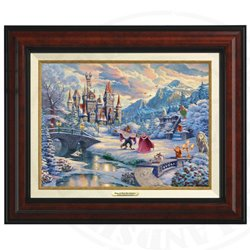 Thomas Kinkade Framed Art on Canvas - Beauty & the Beast
