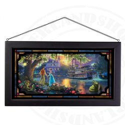 Framed Glass Art - Princess & the Frog