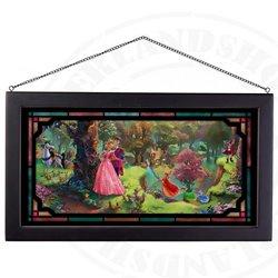 Framed Glass Art - Sleeping Beauty