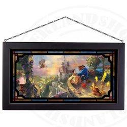 Framed Glass Art - Beauty & the Beast