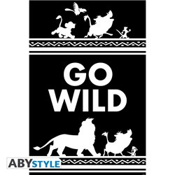 "Poster ""Go Wild"" - Lion King"