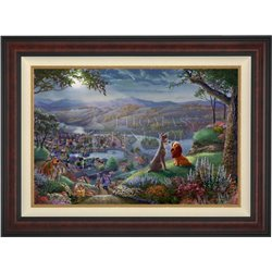 Thomas Kinkade Framed Art on Canvas - Lady & the Tramp