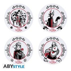 Set of 4 Plates - Villains