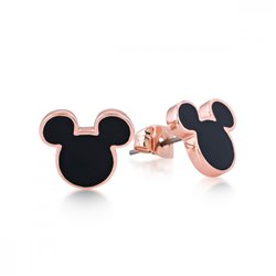 Black Stud Earrings - Mickey