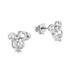 Crystal Head Stud Earrings  - Mickey