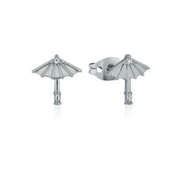 Oriental Parasol Umbrella Stud Earrings - Mulan