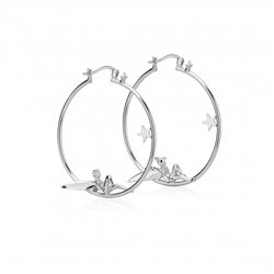 Fairy Hoop Earrings  - Tinker Bell
