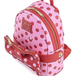 Loungefly Pink Bow 2 in 1 Fanny/Mini Backpack - Minnie