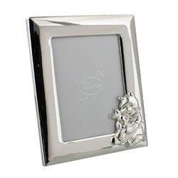 "Silver Photo Frame 3,5"" x 5"" - Pooh & Piglet"