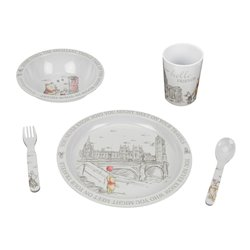 Christopher Robin 5 Piece Medamine Crockery Set - Pooh & Friends