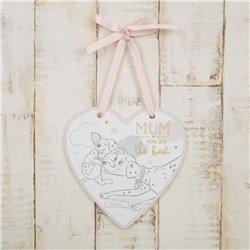 Magical Beginnings Heart Plaque Mum - 101 Dalmatians