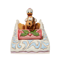 Sledding - Donald & Pluto