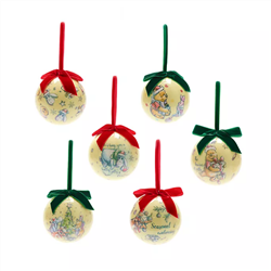 Set of 6 Christmas Baubles - Pooh & Co