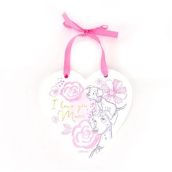 Magical Beginnings Heart Plaque Mum - 101 Dalmatians
