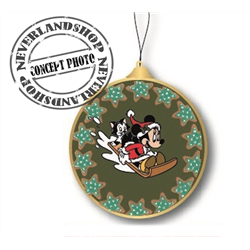 9311 Glass Ornament Disc - Minnie