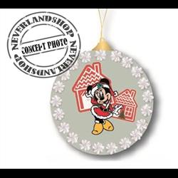 9307 Glass Ornament Disc - Minnie