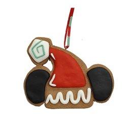 9323 2D Gingerbread Hat Ornament -  Mickey