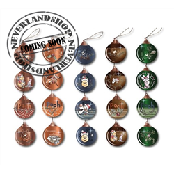 Set of 4 Baubles - Pooh & Co