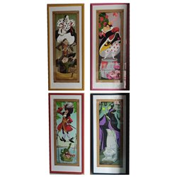Set of 4 Framed Art Haunted Mansion - Villians