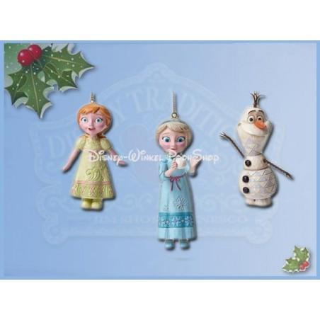 3Dlg Set Ornamenten - Frozen - Anna, Elsa & Olaf