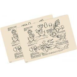 2Dlg Placemat Set Vintage - Donald Duck