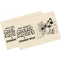 2Dlg Placemat Set Steamboat Willie - Mickey
