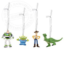 Set of 4 3D Ornaments - Toy Story