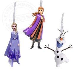 Set of 3 3D Ornaments - Frozen