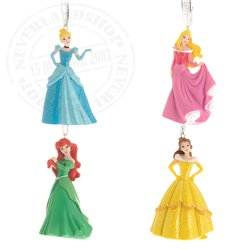 Set of 4 3D Ornaments - Princess