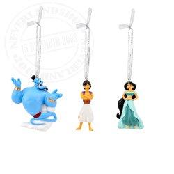 Set of 4 3D Ornaments - Aladdin