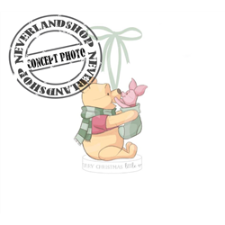 Ornament Merry Christmas Little One - Pooh & Piglet