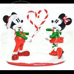 Candycane Figure - Mickey & Minnie