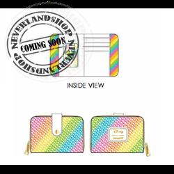 Loungefly Zip Around Wallet Rainbow - Minnie