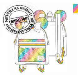 Loungefly Mini Backpack Rainbow - Minnie