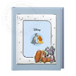 Photo Album with Photo Frame Blue - Lady & the Tramp
