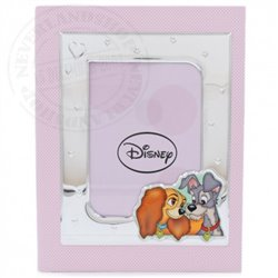 Photo Album with Photo Frame Pink - Lady & the Tramp