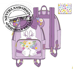 Loungefly Backpack Flowers - Minnie