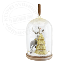 9253 Dome Ornament Light-Up - Olaf & Sven