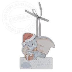 1st Christmas Doorhanger Stop Here Santa - Dumbo