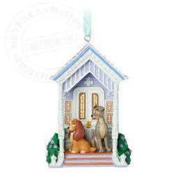 Sketchbook Ornament - Lady & the Tramp