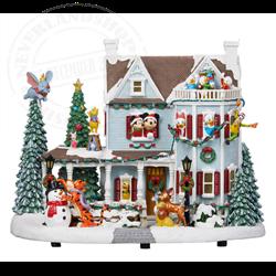 Animated Christmas Holiday House - Disney