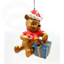 9307 Metal Ornament with Gift Sitting - Pooh