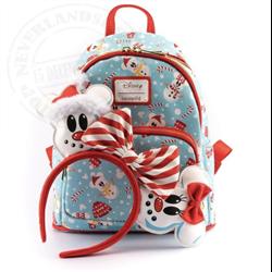 Loungefly Mini Backpack & Headband Snowman - Mickey & Minnie