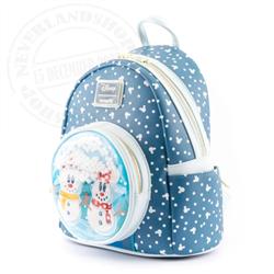 NeverlandShop:Loungefly Mini Backpack SnowGlobe - Mickey & Minnie -WDBK1850