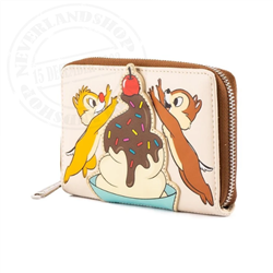 Loungefly Zip Around Wallet Cherry on Top - Chip & Dale