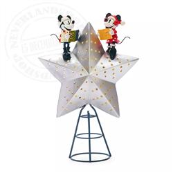 Tree Topper/ Piek LightUp Lodge - Mickey & Minnie